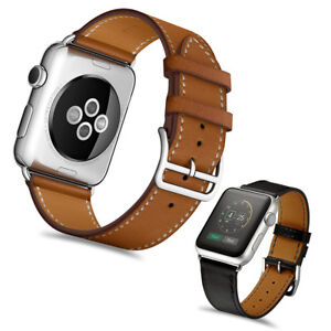 Genuine-Leather-Classic-Watch-Band-Strap-for-iWatch-Apple-Watch-Series-4-3-2-1