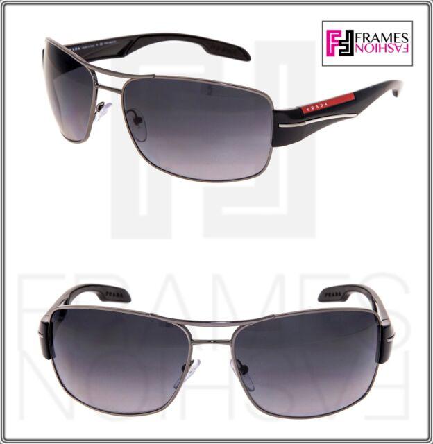 982893f741 PRADA LINEA ROSSA 53N Shield Sunglasses PS53NS Shiny Black Ruthenium  POLARIZED