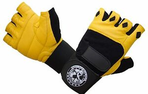 New Gym Weight Lifting CrossFit Workout Gloves With 12 inch Wrist Support.