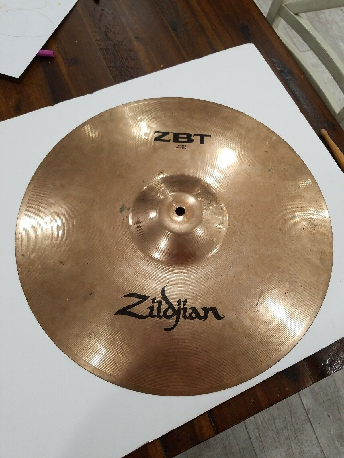 Zbt 18  Crash Zildjian Preowned