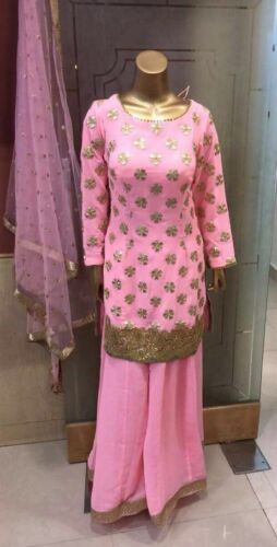 indian dress party wear wedding wear sharara suit