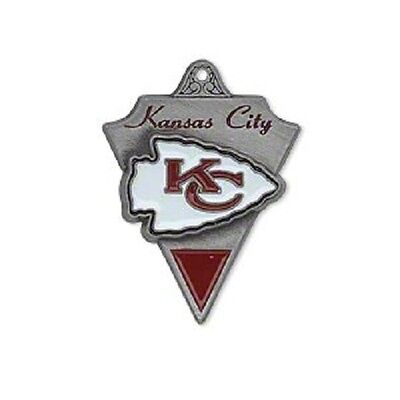 NFL® Kansas City Chiefs  29x22mm red and white Pewter Charm 1 Per