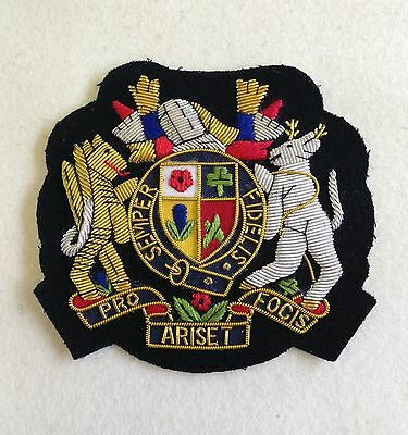 Great Britain Blazer Badge, Embroidered, Jacket, Army, Military, GB, Coat Arms