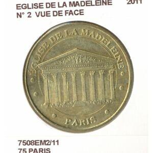 75 PARIS EGLISE DE LA MADELEINE Numero 2 VUE DE FACE 2011 SUP-