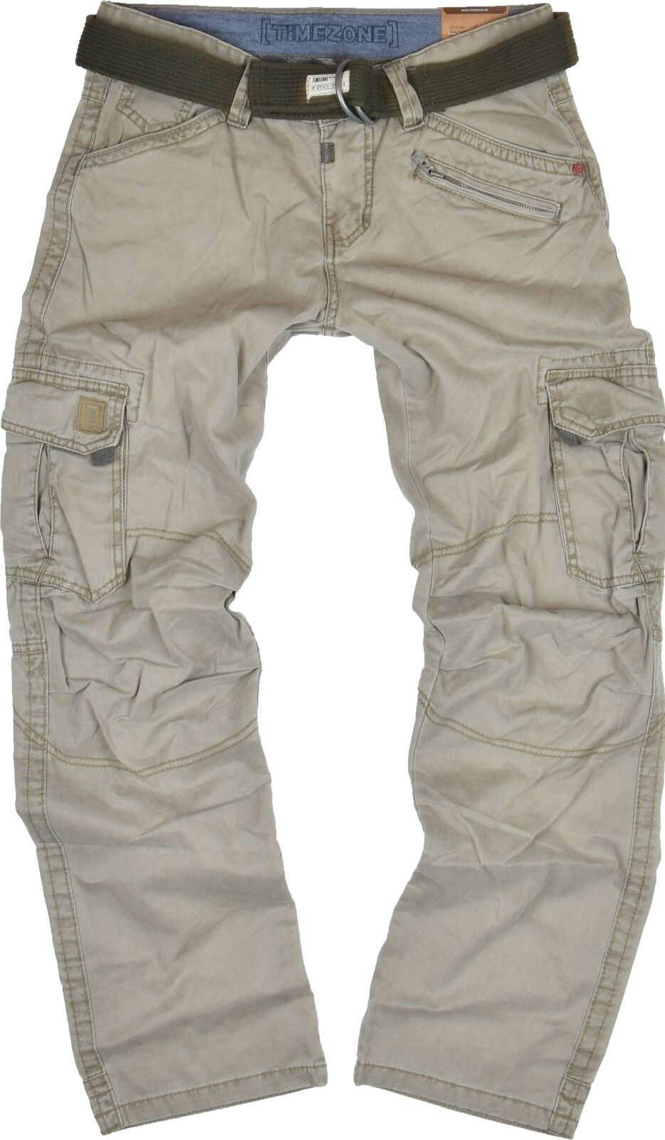TIMEZONE Uomo Cargo Pant Benito 6166 6166 6166 colorei sabbia Loose Fit Cargo Pant Nuovo 1c2d79