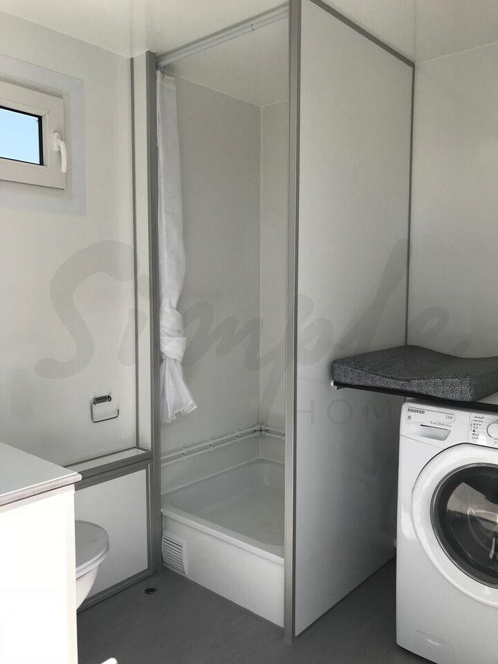 Mobilt badeværelse / Bryggers inkl. vaskemaskine