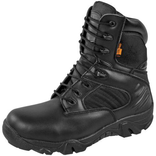 Highlander Echo Boots Military Leather Mens Waterproof Footwear Cordura Black