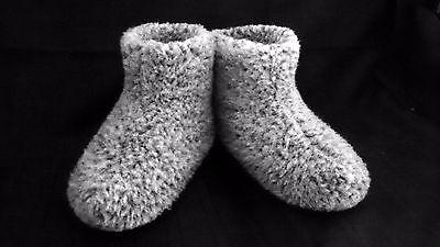 Talla 11.5 - Gris-Para Hombre Lana Merino Botas cálido acogedor Zapatillas Mocasines chuni