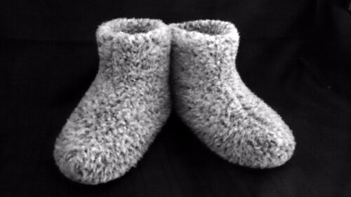 Size 9.5 GREY MEN/'S MERINO WOOL BOOTS WARM COZY SLIPPERS MOCCASINS CHUNI
