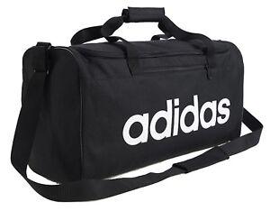 a56c55ca982f Adidas Linear Core Medium Duffle Bags Running Black Soccer GYM Bag ...