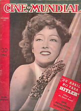 1941 CINE-MUNDIAL ARGENTINA MAGAZINE GLORIA SWANSON ON COVER