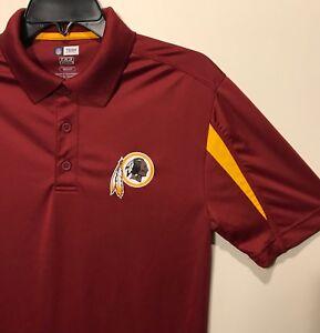 604fa6ad6 New Washington Redskins Men's Polo Dress Shirt Red Size Small NFL ...