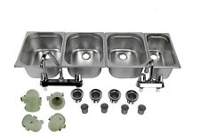 Concession Sink 4 Compartment Food Truck 3l1s Handwash Faucets Drain Traps