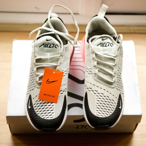 Nike Air Max 270 Black Light Bone Hot Punch New Trainers Size UK 7.5 AH8050-003