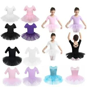 Girls Women Ballet Leotard Dance Dress Ballerina Gymnastics Latin Skirt Costumes