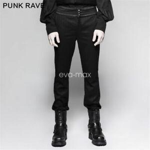 ebda90d7e822b4 Image is loading PUNK-RAVE-Men-High-Waist-pants-Trousers-Gothic-