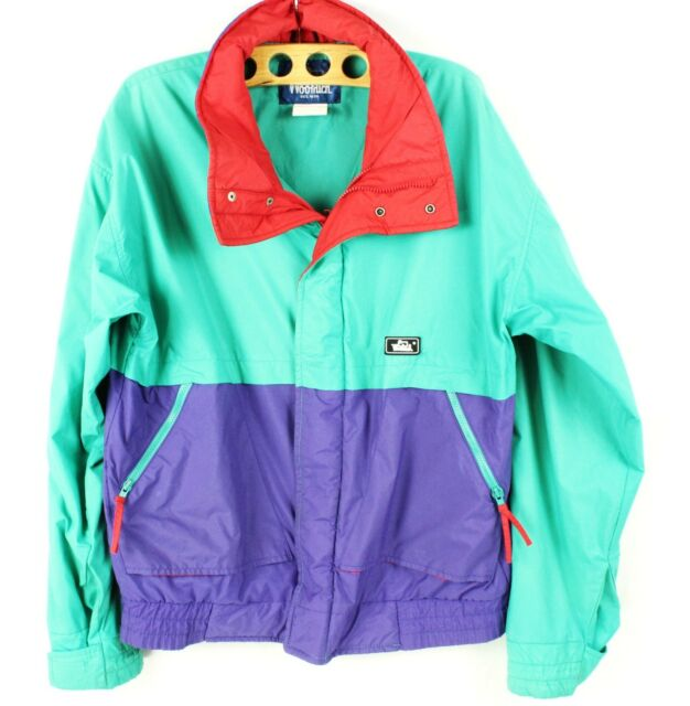Vintage Woolrich Color Block Soft Shell Jacket Jolly Rancher Size M VTG 80's LSC