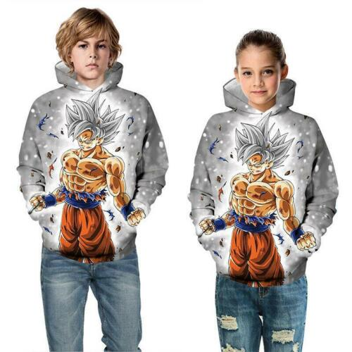 Toddler Kids Boys Girls 3D Printed Hoodies Sweatshirt Jumper Pullover Outfits