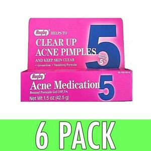 Rugby Acne Medication Benzoyl Peroxide Gel 5 % 1.5 oz Sisley Masque Black Rose 60ml / 2.1 oz 6 pack