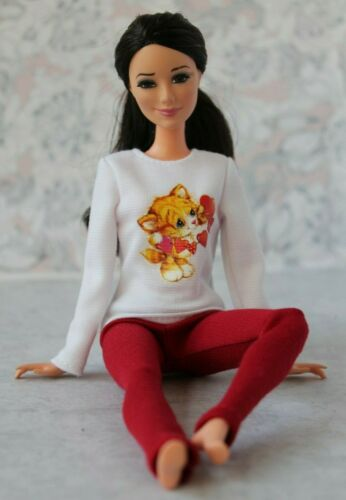 №036 Clothes for Barbie Doll Blouse and Leggings for Dolls.