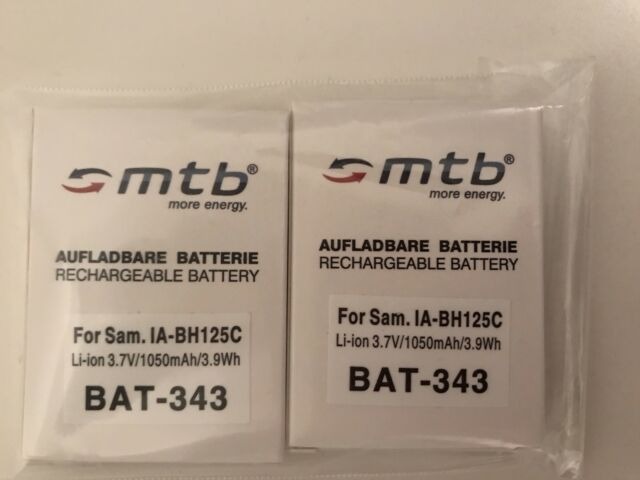 Samsung IA-BH125C 1250 mAh Li-Ion Camcorder-Akku 2 Stück. (Drittanbieter)