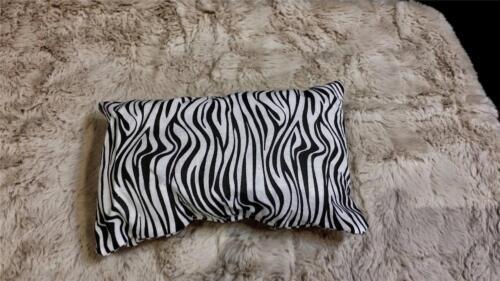 """Pillow 4 x 8 fit 18/"""" Girl Doll Zebra Print AMERICAN bedding linen throw"""