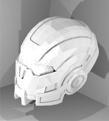 Mass Effect N7 Helmet digital pepakura plans to build your own or for 3-D print