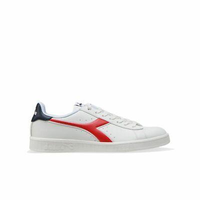 Scarpe Diadora Game P bianco rosso c2107 Calzature Uomo Sneakers Sportiva Nuovo