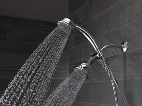 Delta 75530D Chrome 5 Sprays Shower Head /& Handshower DIY Easy Install Diverter
