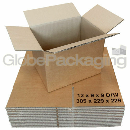 """10 x STRONG 12x9x9/"""" D//W Moving Storage Cardboard Boxes"""