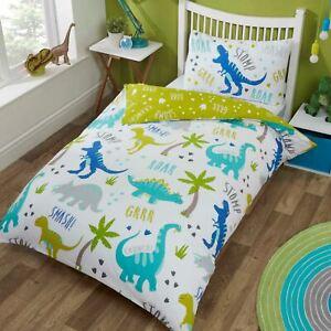 Roarsome Dinosaurier Einzelbettbezug Set Wende Bettwäsche Kinder