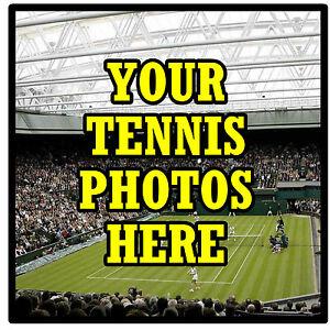Sous-verres Personnalisés-propre Tennis Photo's - Set De 4 Sous-verres - Cadeau-neuf-afficher Le Titre D'origine