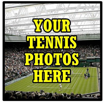 Personalizzata Coasters-proprio Tennis Photo's - Set Di 4 Sottobicchieri-regalo-nuovo-mostra Il Titolo Originale