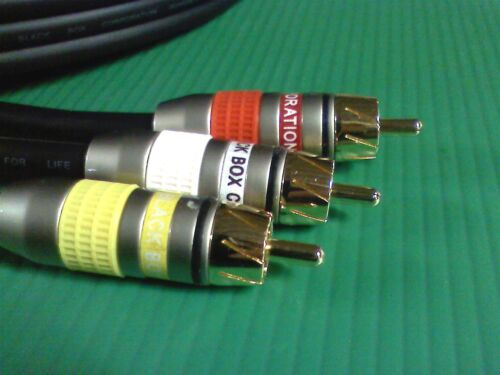 Premium 50/'ft Audio//Video Cable M-M RCA by Black Box w// 24K Connectors