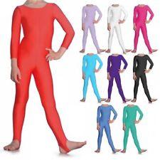 Lycra Catsuit Long Sleeve Plain Front #VIKKI Ballet Colours