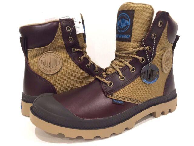 686ff46d765 Palladium Men's Pampa Sport Cuff WPN Rain Boot Mahogany Dark Khaki
