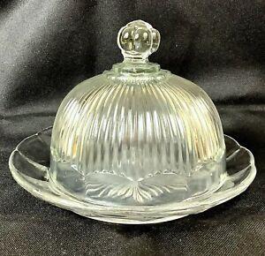 Vintage Art Déco Vetro Cloche Cibo Cover Cupola Bell 1940s Vetreria Francese