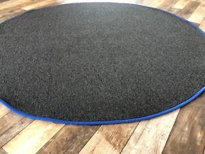 Kurzflorteppich Rund Teppich Anthrazit Blau Kinderteppich In 3