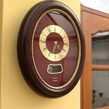 Vintage 1950's/1960's Metamec Oval Wall Clock with Pendulum