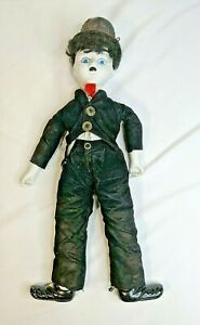 Vintage-Porcelain-Charlie-Chaplin-Celebrity-Doll-Approximately-18-inches-Tall