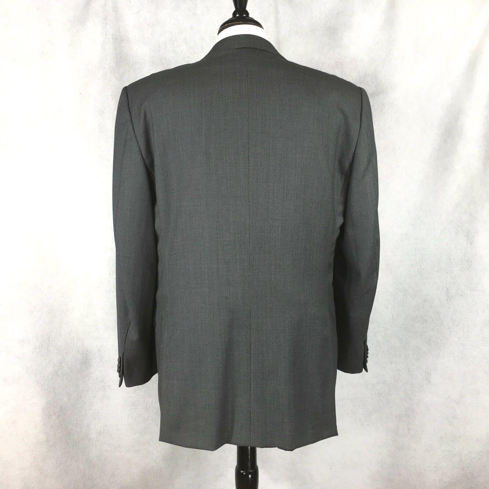 Emenegildo wool Zegna Roma Uomo Gris Birdseye wool Emenegildo Italian blazer US 44R EU 54R 8f0e6b
