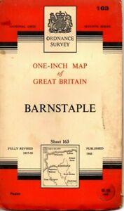 1960-Vintage-Ordnance-Survey-One-Inch-Seventh-Series-Map-Sheet-163-Barnstable