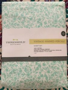 Threshold-Vintage-Washed-Percale-Sheet-Set-Queen-100-Cotton