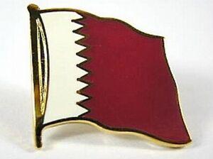 Katar-Flaggen-Pin-Anstecker-1-5cm-Qatar-Neu-mit-Druckverschluss