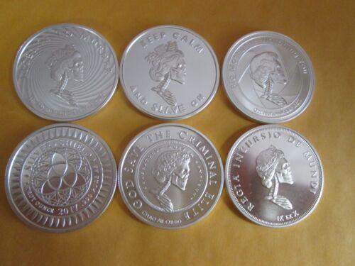 2017 silver shield  Slave Queen six set .999 fine bu W airtights