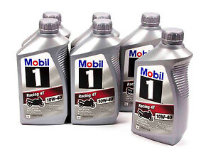 mobil 1 racing 4t 10w 40 oil case 6 qt synthetic. Black Bedroom Furniture Sets. Home Design Ideas