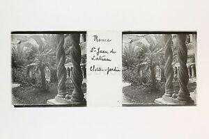 Roma Sant' Jean Da IN Laterano Italia Placca Lente Stereo Positive Ca 1905