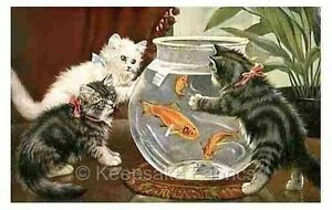 Cats-amp-Goldfish-Bowl-Crazy-Quilt-Block-Multi-Sizes-FrEE-ShiPPinG-WoRld-WiDE