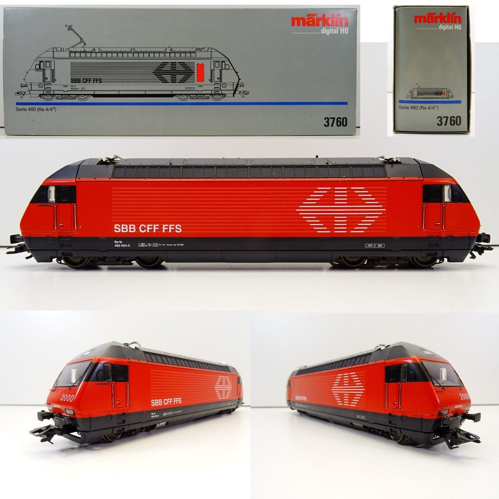 Märklin 3760 E-Lok serie 460 re 4/4 Uetliberg 460 004-5 SBB Digital OVP c3210