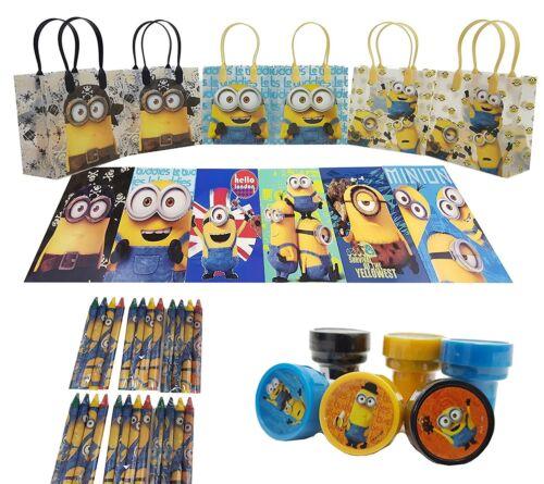 The Best Minions 6 Pcs Gift Bag party favor set pack w//coloring book 42pcs